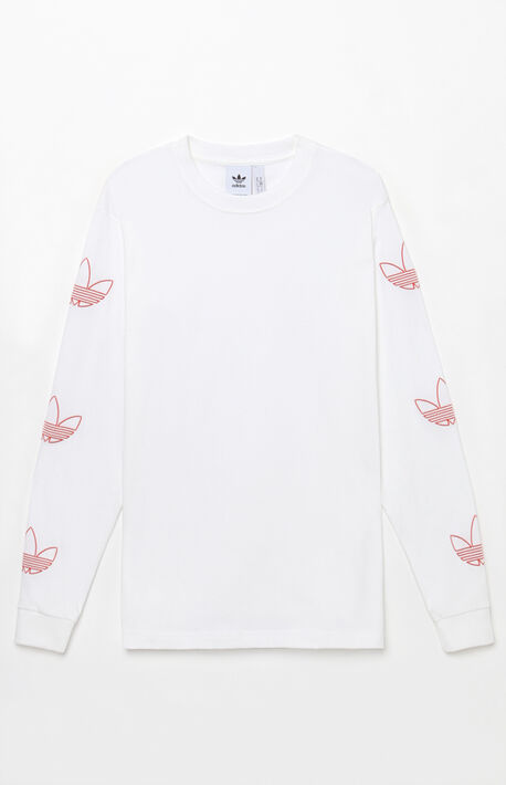 Trefoil White Long Sleeve T-Shirt f46a93181
