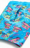 "8 Bit Gator Boy 16"" Swim Trunks image number null"