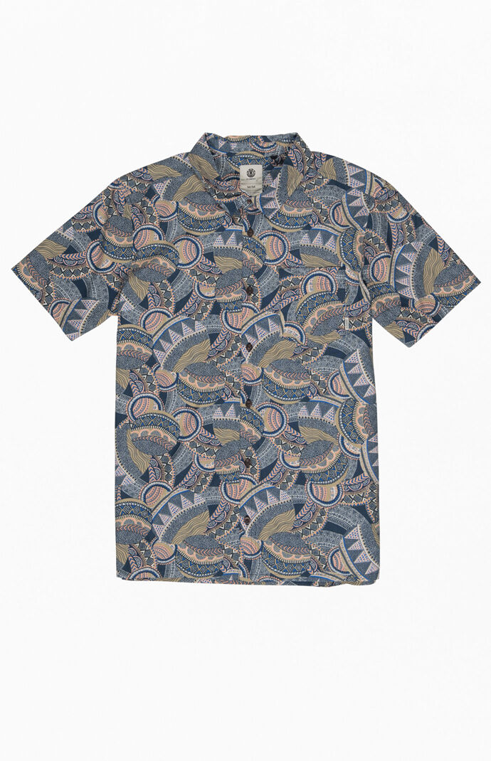 Turtle Short Sleeve Button Up Shirt