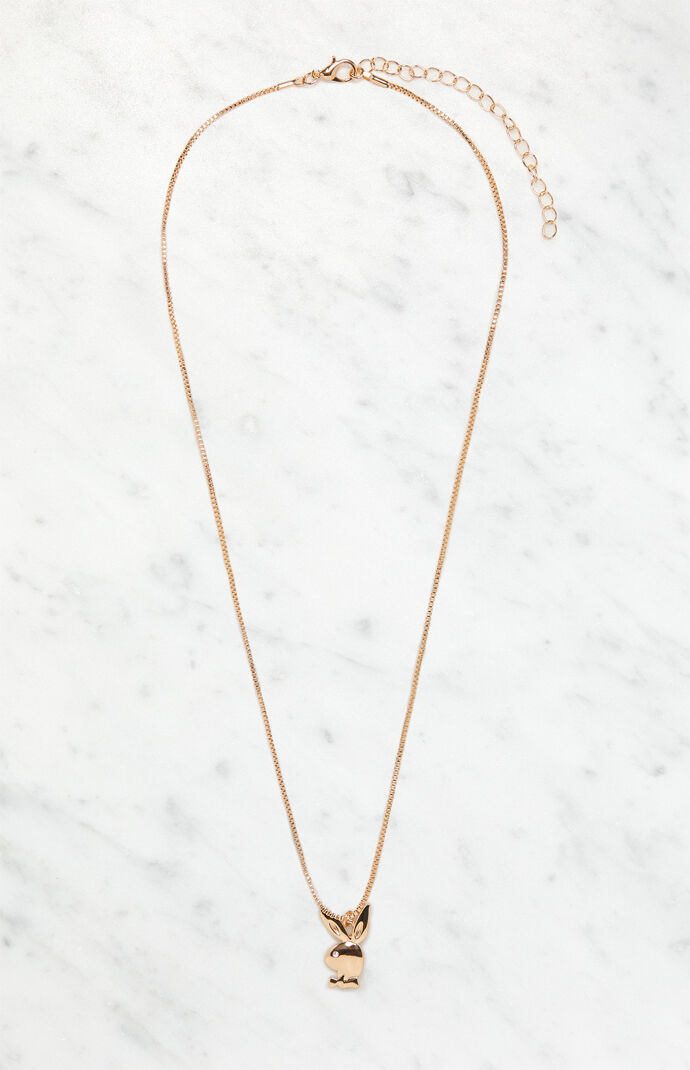 Gold Simple Bunny Necklace
