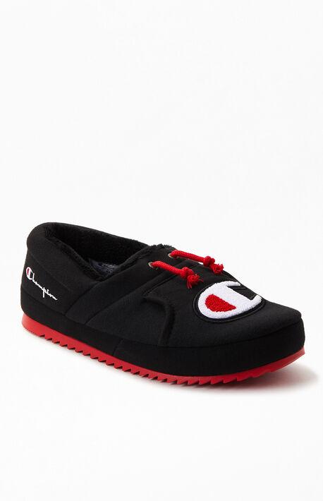 Black & Red University II Slippers