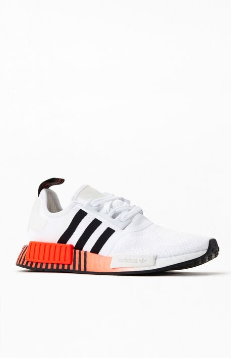 White & Red NMD_R1 Shoes