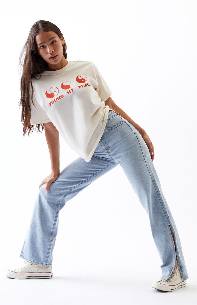 Side Slit Light '90s Boyfriend Jeans