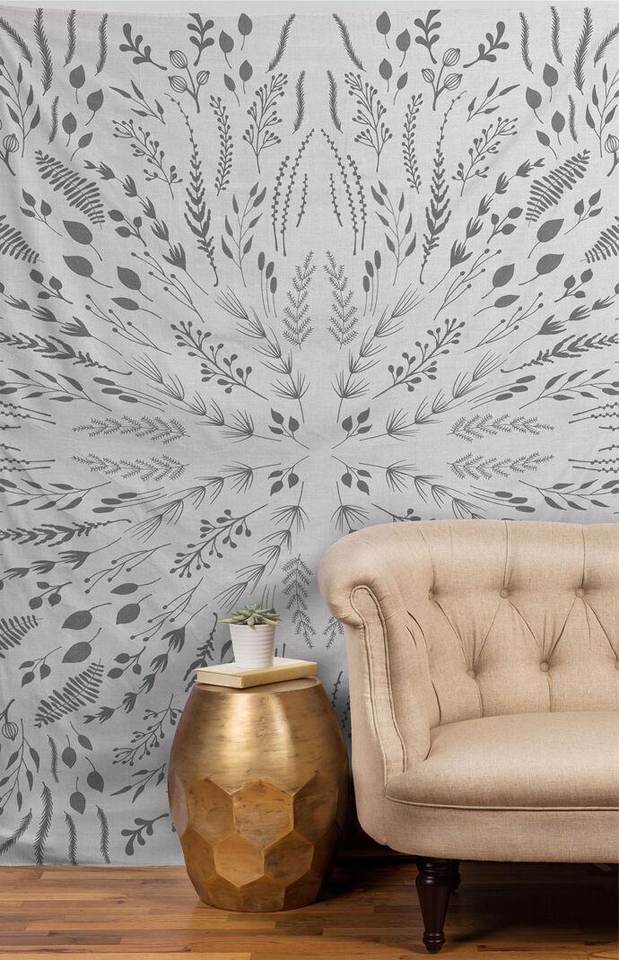Gray Maze Tapestry
