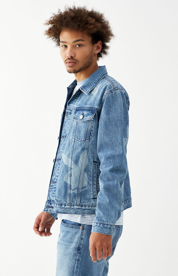 By PacSun Classic Fit Bunny Denim Trucker Jacket