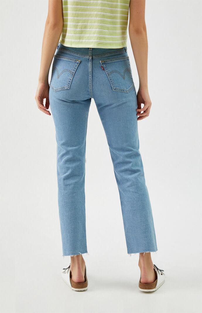 Medium Indigo Wedgie Straight Arctic Jeans