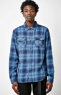 Monterey II Plaid Flannel Long Sleeve Button Up Shirt