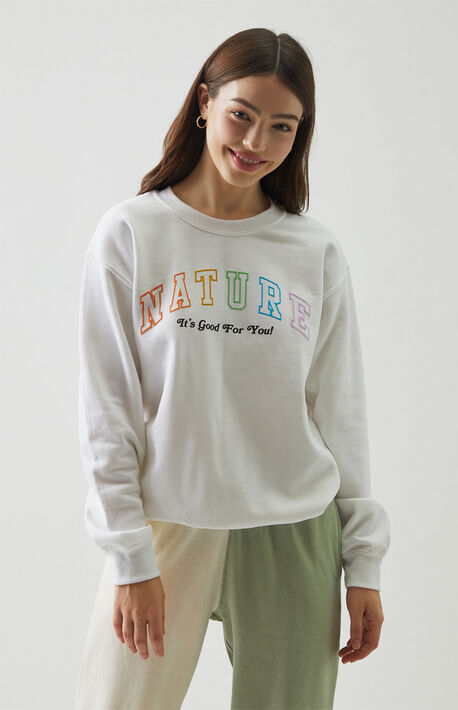 Nature Varsity Crew Neck Sweatshirt
