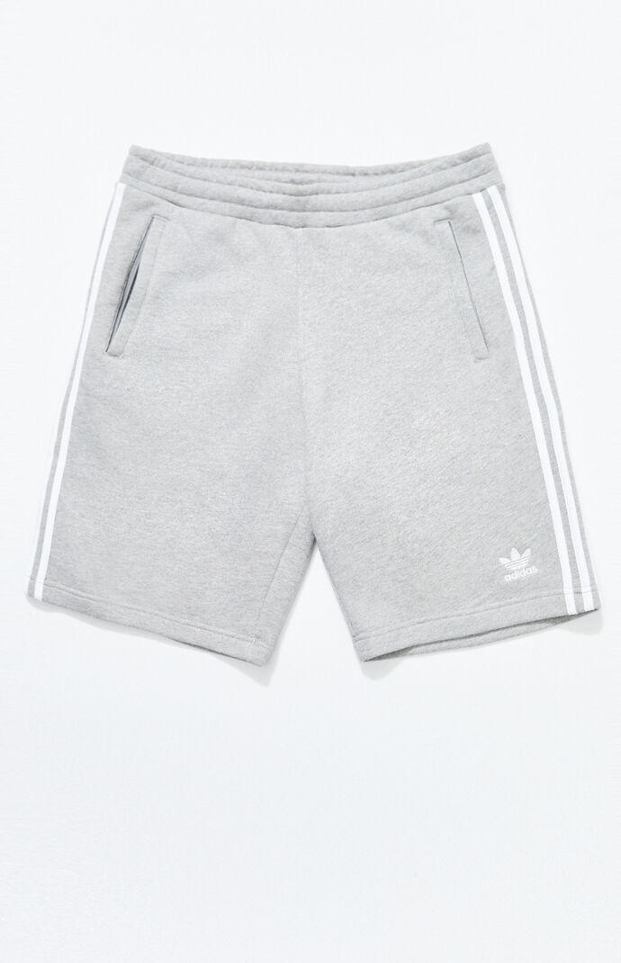 Heather Grey 3-Stripes Active Shorts