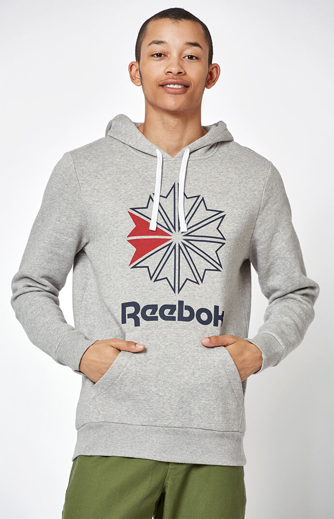 Reebok Mens Foundation Starcrest Pullover Hoodie - Heather Grey 7364383