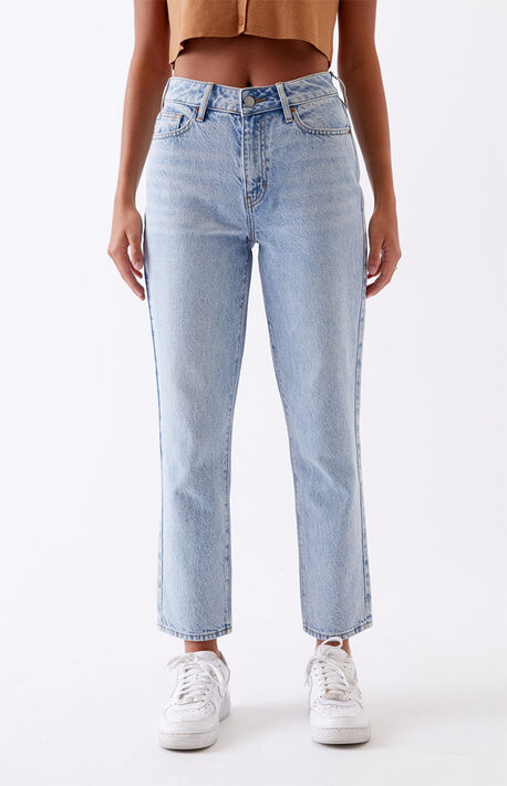 Light Mom Jeans