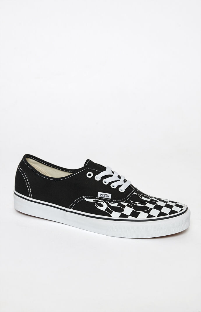 a40815f5e80e92 Vans Checker Flame Authentic Shoes