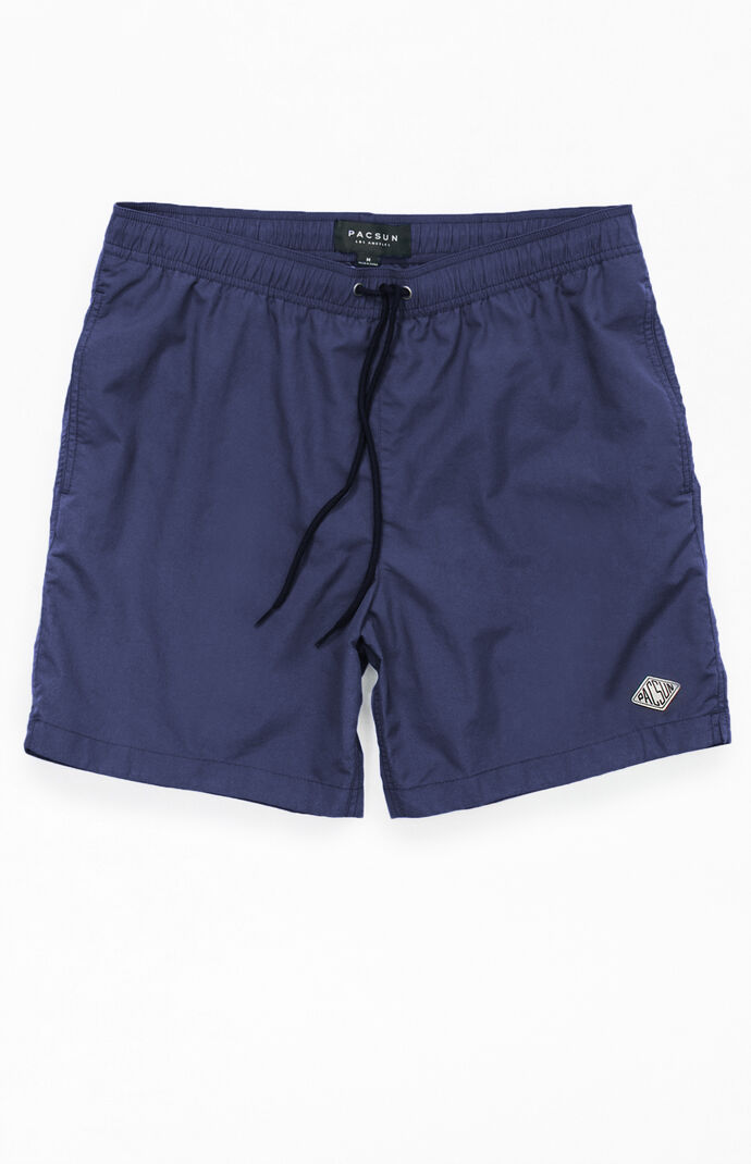 "Solid 17"" Swim Trunks"