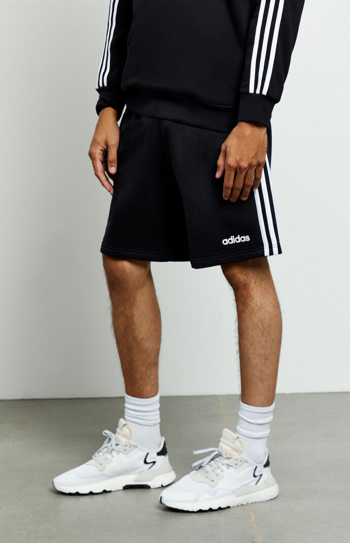 Black 3-Stripes Active Shorts