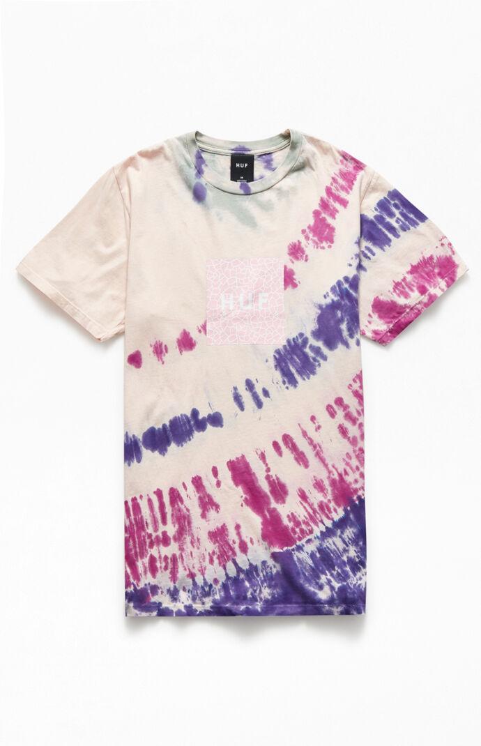 Tie-Dyed Quake Box Logo T-Shirt