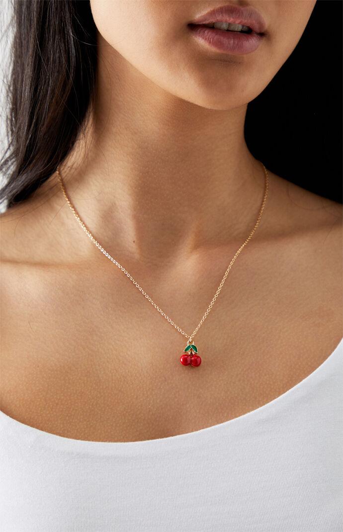 Cherry Pendant Necklace