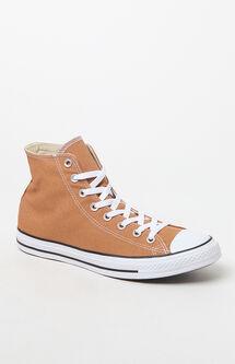 CTAS Pro High Top Tan & White Shoes
