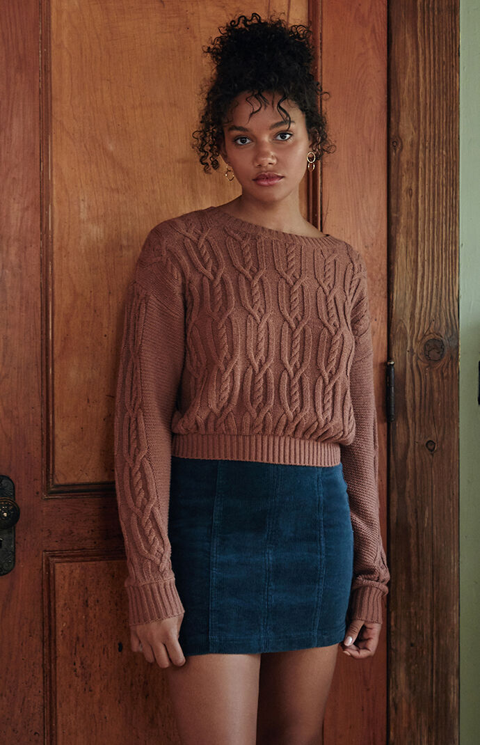 Cable Stitch Dolman Sweater