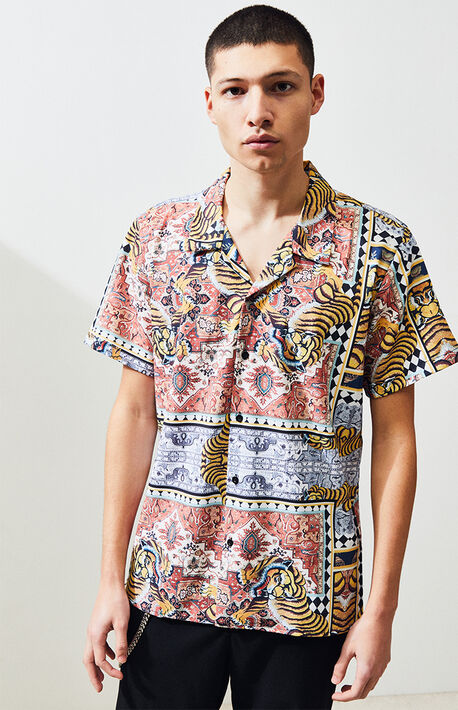 52544b11fc Tribe Short Sleeve Button Up Shirt