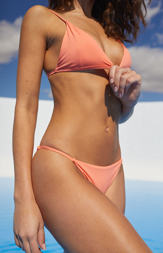 Eco Pink Sig String Bikini Bottom