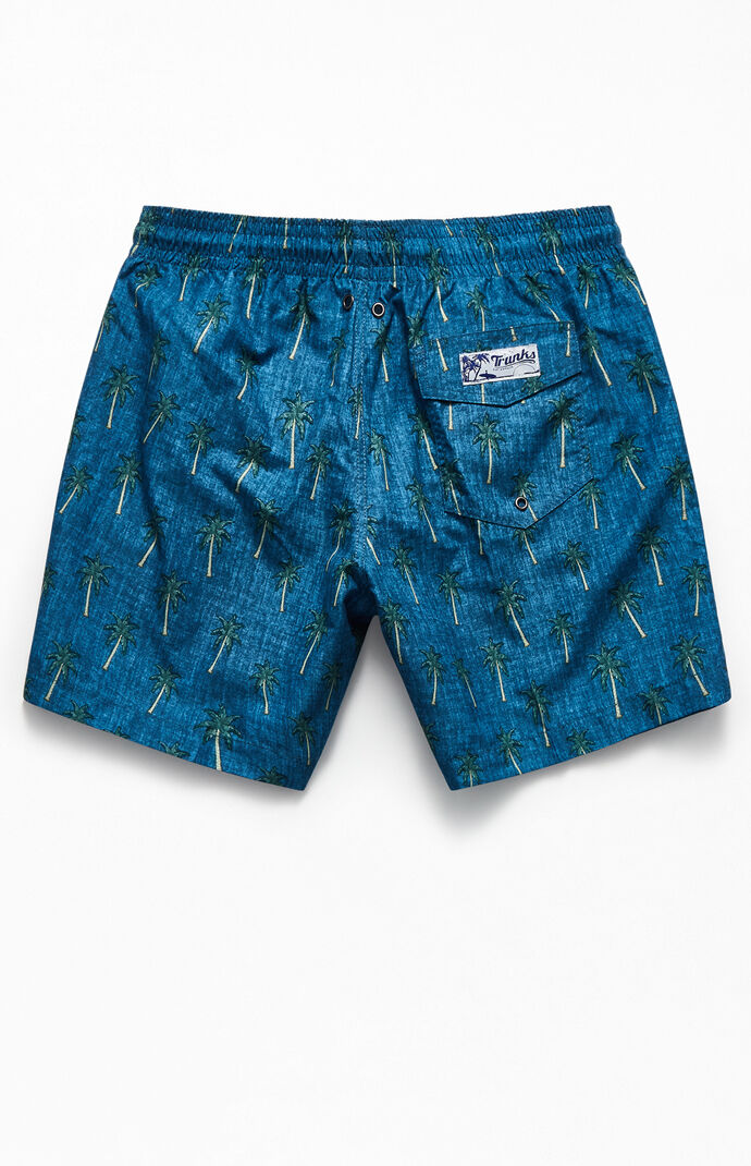 "Chambray Palms 16"" Swim Trunks"