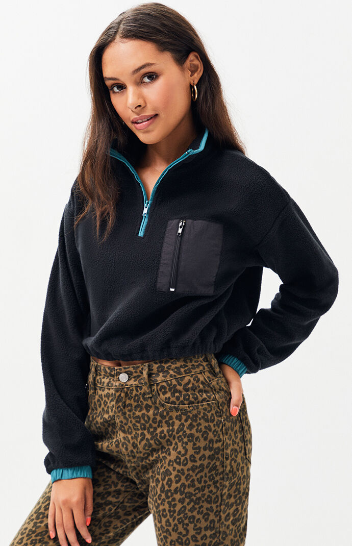 La Hearts Whistler Polar Half Zip Sweatshirt by Pacsun