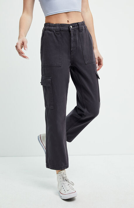 Almost Black Utility Cargo Pants