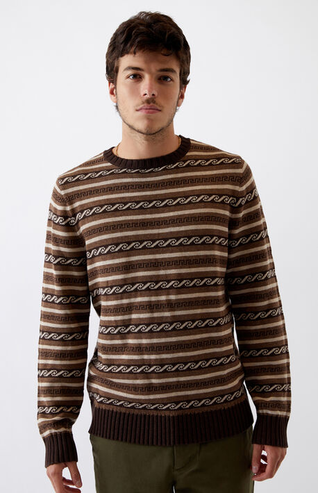 Vintage Striped Crew Neck Sweater