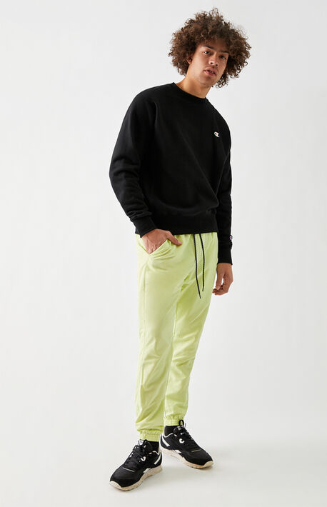 Lime Nylon Jogger Pants