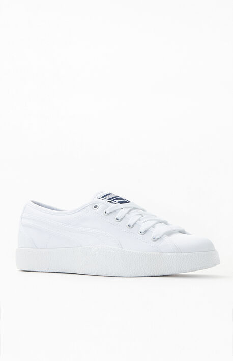 Love White Canvas Sneakers