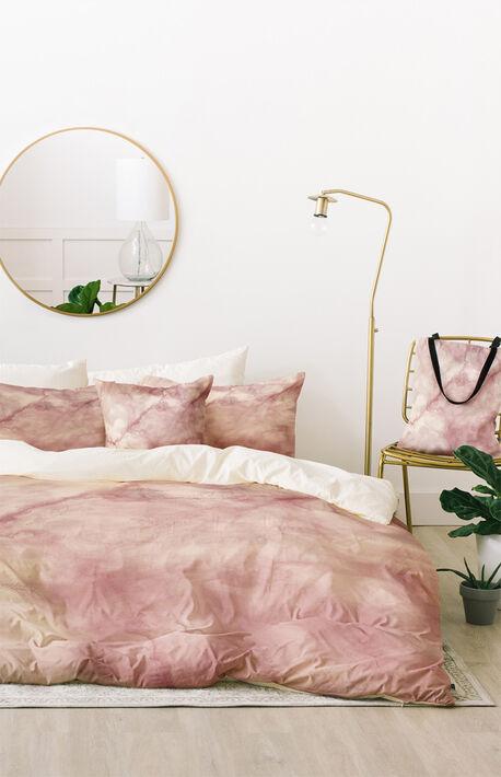 Rose Marble Duvet Set