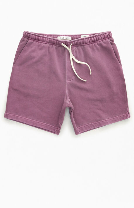Berry Vintage Wash Fleece Volley Shorts