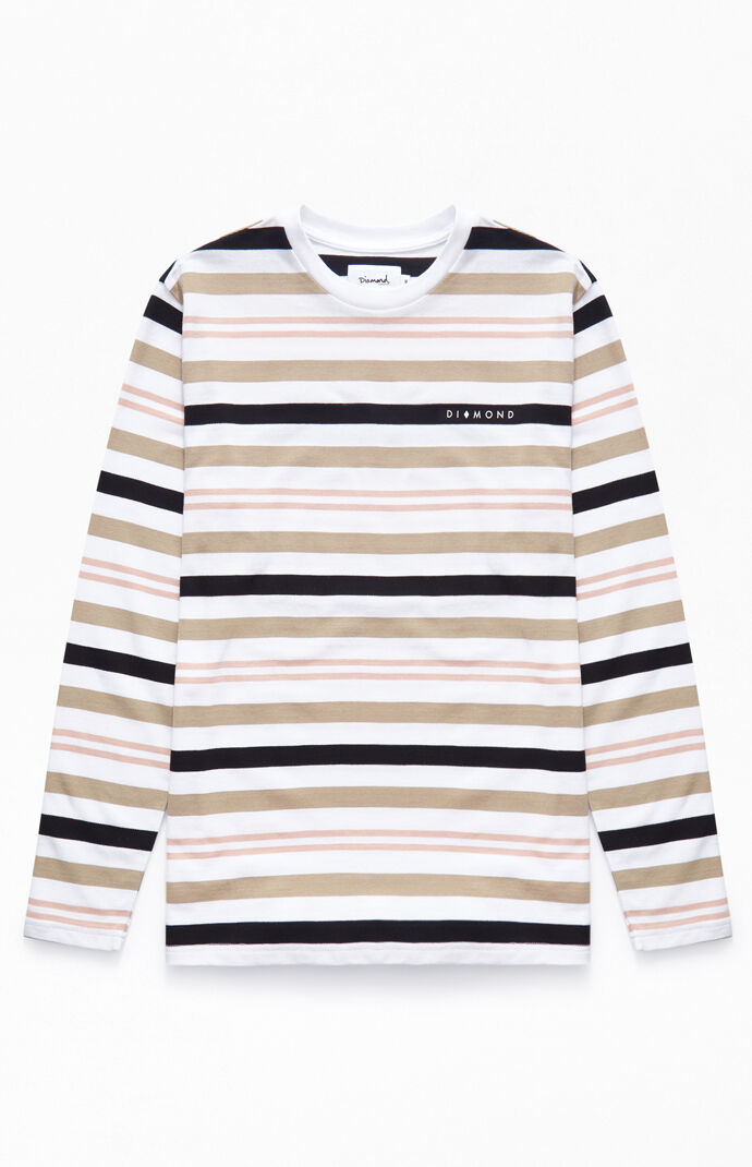 a947baee7457 Diamond Marquise Stripe Long Sleeve T-Shirt | PacSun