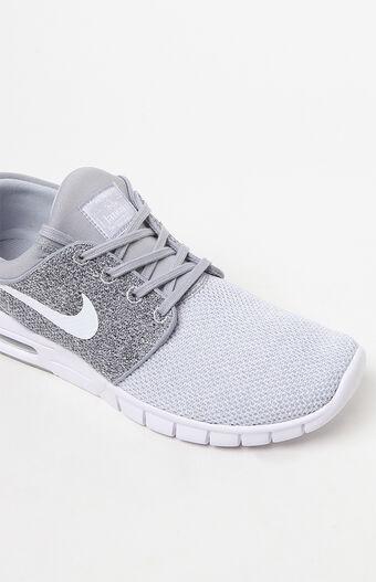 Stefan Janoski Max Knit Grey & White Shoes