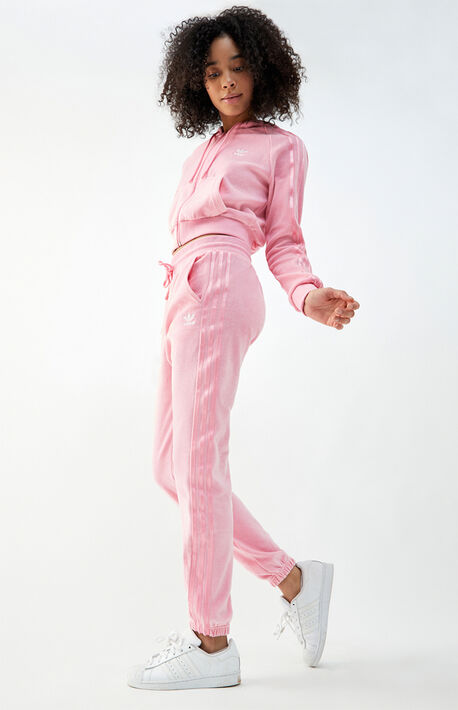 Pink Velour Joggers