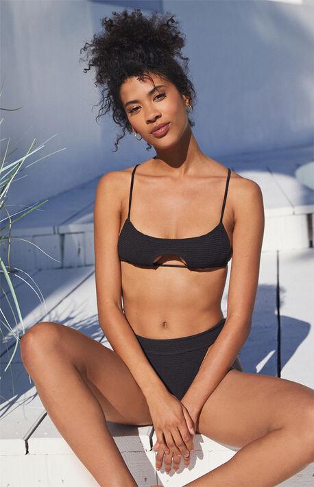 Black Crush Scrunch Bikini Top