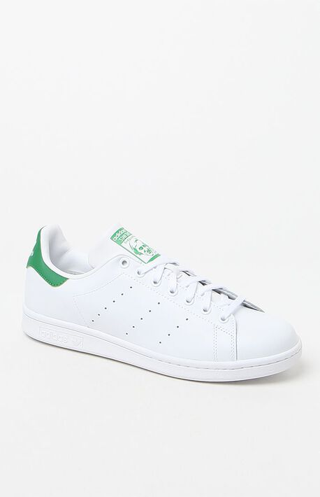 White & Green Stan Smith Shoes