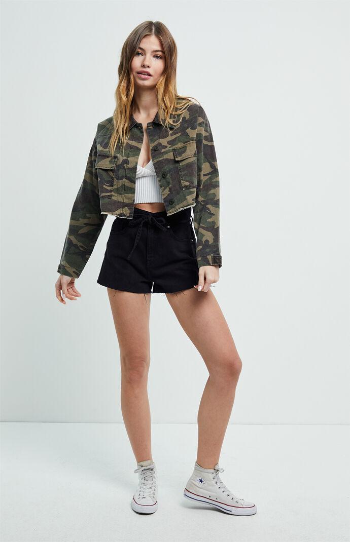 Cropped Camo Jacket