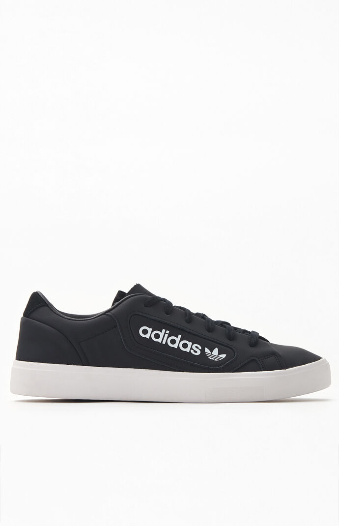 Women's Black Sleek Sneakers