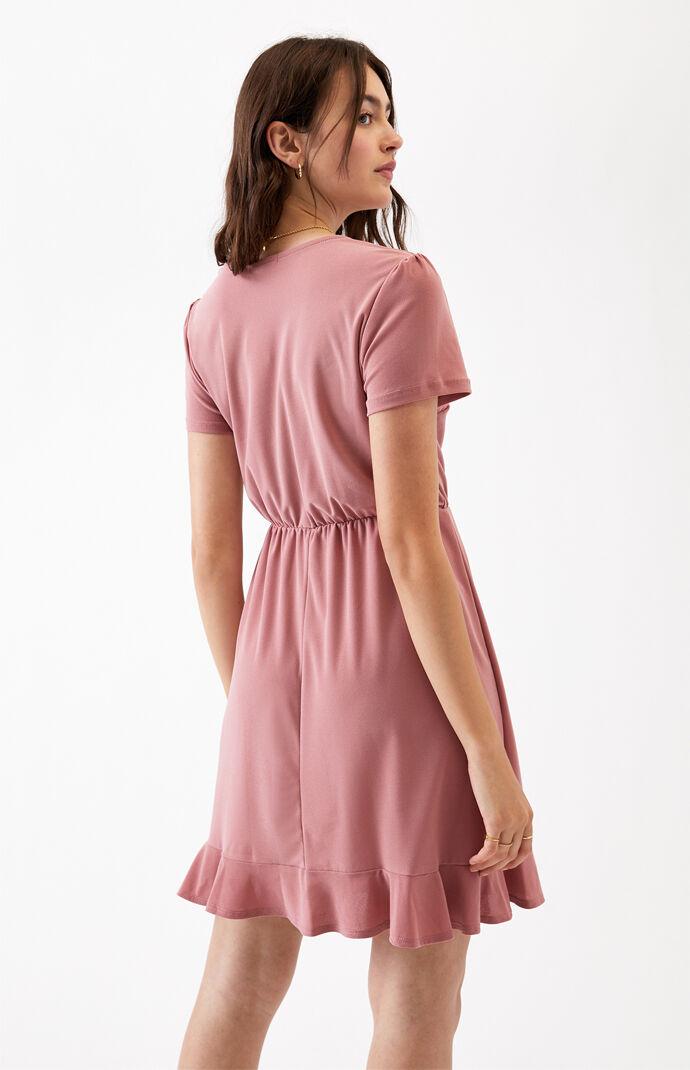 Surplice Ruffle Wrap Dress at PacSun.com