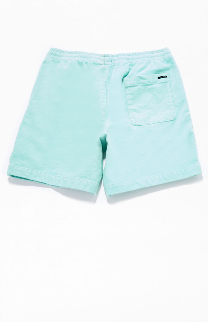 Mint Corduroy Volley Shorts