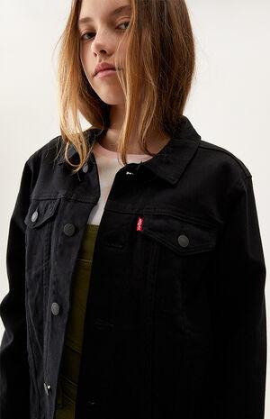 Kids Black Denim Jacket