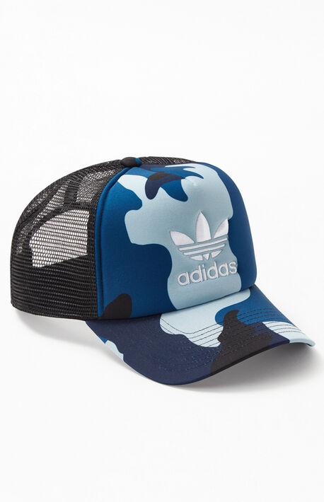 20df65c953a Blue Camo Foam Snapback Trucker Hat