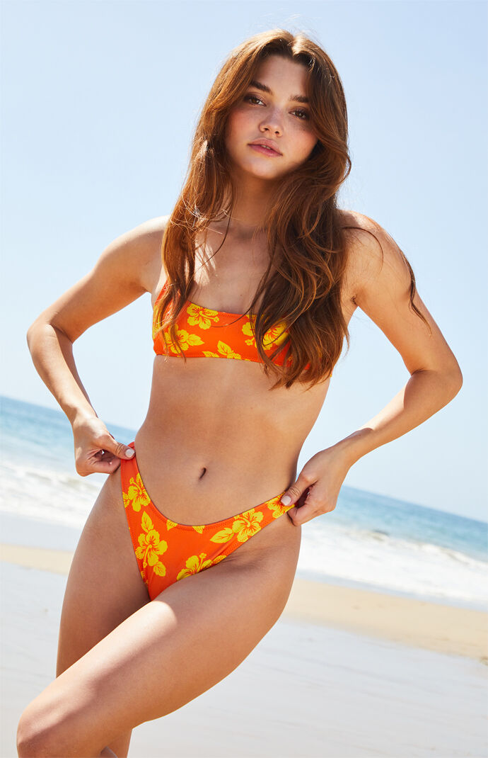 Orange California Sporty Bikini Bottom