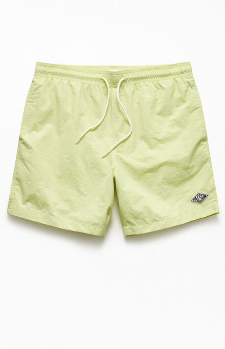 "Solid Color 17"" Swim Trunks"