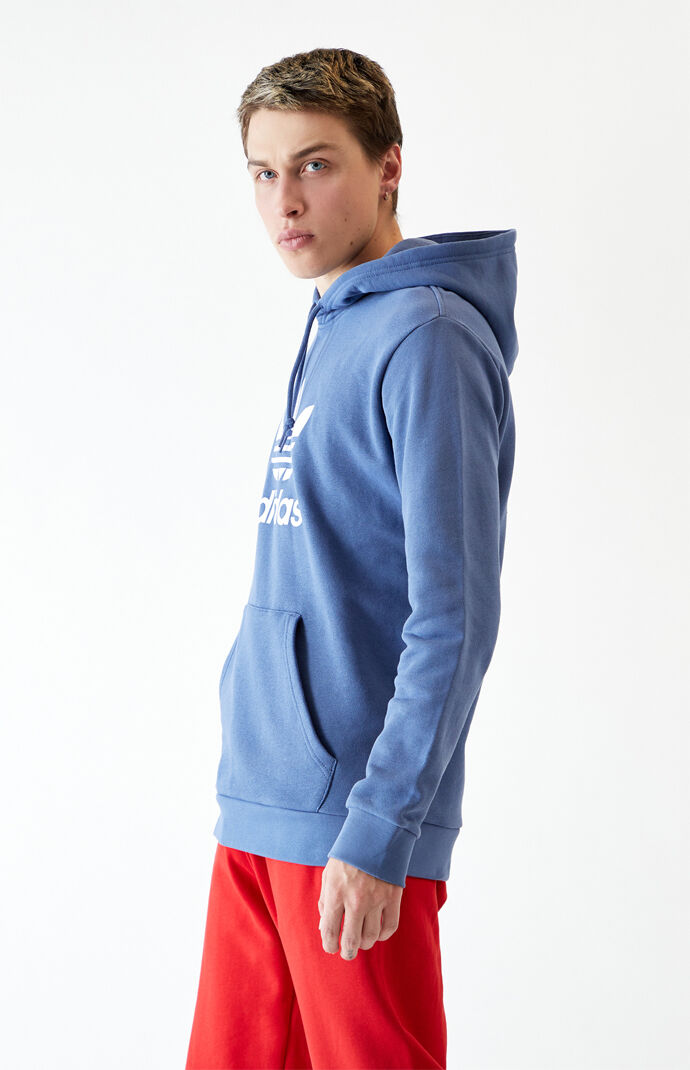 Blue Trefoil Pullover Hoodie