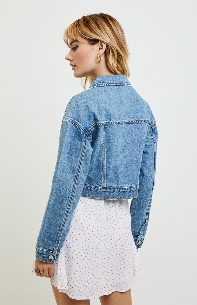 Tapered Cropped Trucker Jacket