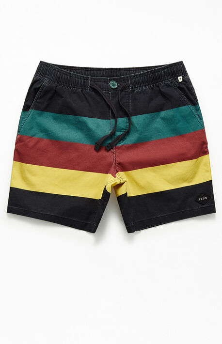 "c2daa93940 Sunset Striped 17"" Swim Trunks"