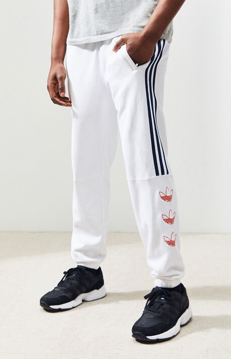 size 40 5df3e 6acb2 White FT Sweatpants