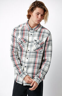 Camino Plaid Flannel Long Sleeve Button Up Shirt